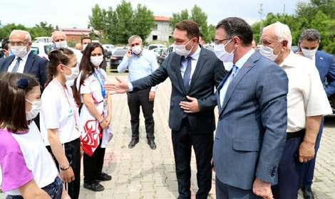 Vali Balcı, Pazar'da fitness ve kondisyon salonu açılışına katıldı