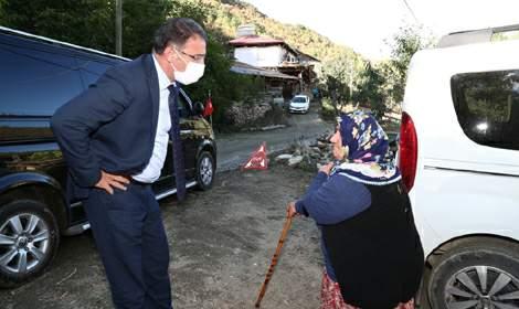 Vali Balcı, Almus'ta ziyaret ve incelemelerde bulundu