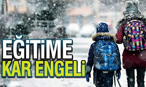 Valilik Açıkladı: Tokat'ta Okullara 1 Gün Kar Tatili