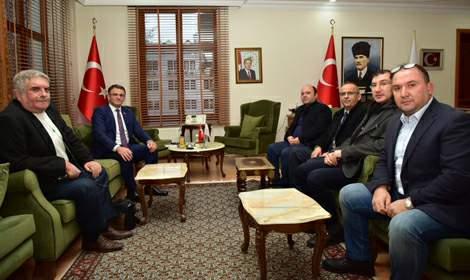 Gazetecilerden Vali Dr. Ozan Balcı'ya Ziyaret