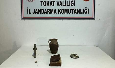 Turhal'da Tarihi Eser Kaçakçıları Yakayı Ele verdi