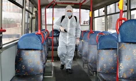 Tokat Belediyesi toplu taşıma araçlarını dezenfekte ediyor