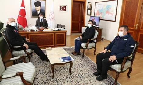 Sadi Ergin'den Vali Dr. Ozan Balcı'ya Ziyaret